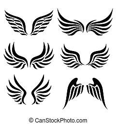 wings set. Vector.