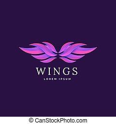 Wings vector emblem