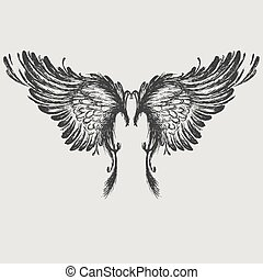 Wings vector illustration.