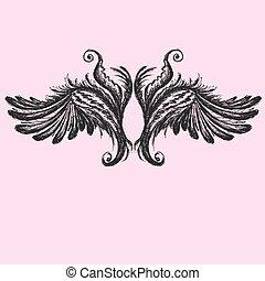 Wings vector illustration.