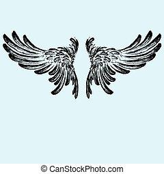 Wings vector illustration
