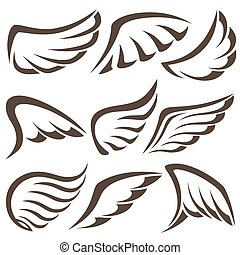 Wings. Vector Set