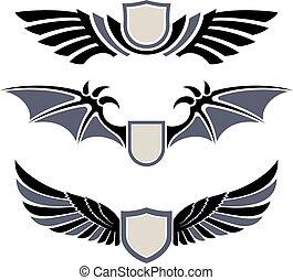 wings., wystawiany zamiar, elementy