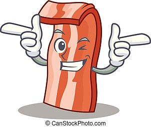 Wink bacon character cartoon style