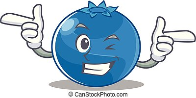 Wink blueberry character cartoon style
