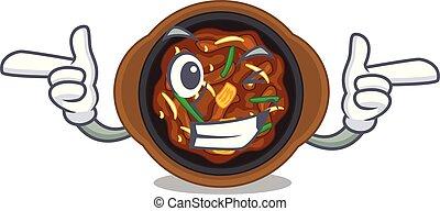 Wink bulgogi in a the bowl cartoon