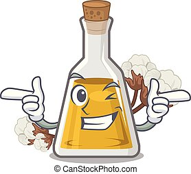 Wink cottonseed oil isolated in the character vector ...