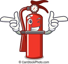 Wink fire extinguisher character cartoon