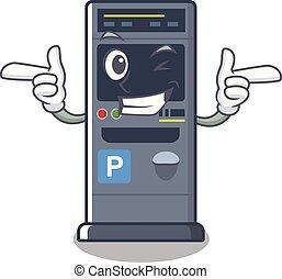 Wink parking vending machine the cartoon shape