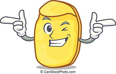 Wink potato chips character cartoon