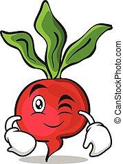 Wink radish character cartoon collection