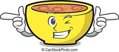 Wink soup union character cartoon