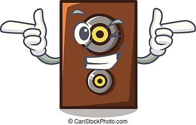 Wink speaker character cartoon style