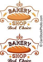 winkel, bakkerij, etiket