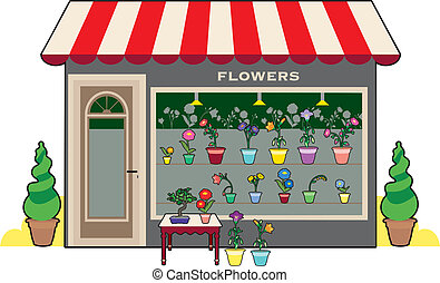 winkel, bloem