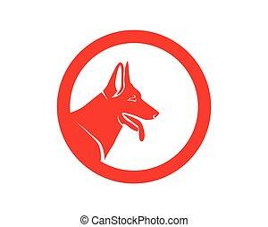 winkel, dieren, huisdieren, iconen, app, dog, mal, logo
