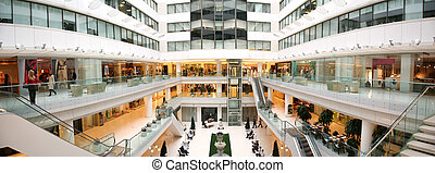 winkel, interieur, panorama