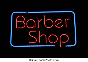 winkel, kapper, buitenreclame