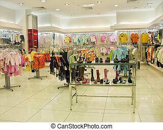 winkel, kind, kleren