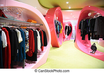 winkel, moderne, kleren