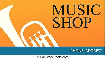 winkel, muziek handel, kaart