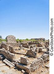 winkel, oude ruïnes, bovenkant