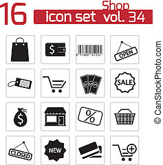 winkel, set, black , vector, iconen