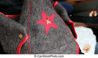 winkel, velen, budenovka, beslag, symbolen, russische , ...