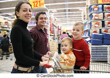 winkel, verhuizing, gezin