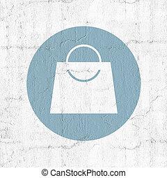 winkel, zak, pictogram