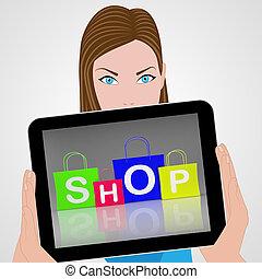 winkel, zakken, shoppen , vertoningen, detailhandel, aankoop