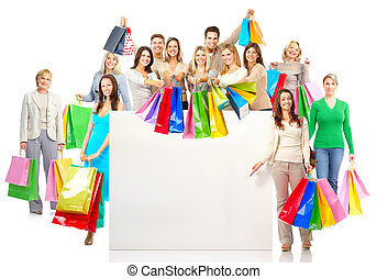 winkelende mensen