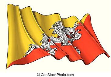 winken markierung, bhutan