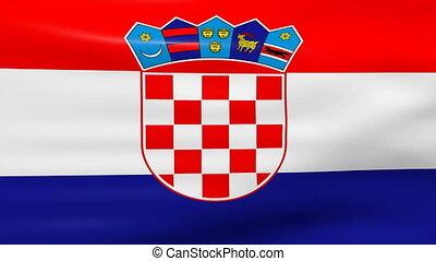 winken markierung, kroatien, schleife, ready.