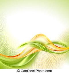 winkende , abstrakt, grüner hintergrund, gelber