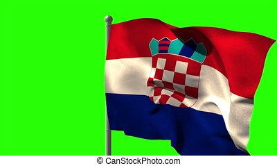 winkende , fla, national, croatia läßt