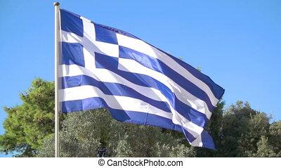 winkende , griechische markierung