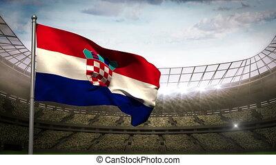 winkende , kroatien, nationales kennzeichen, sta