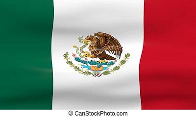 winkende , mexiko markierungsfahne