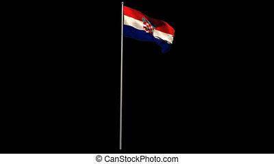 winkende , national, croatia läßt