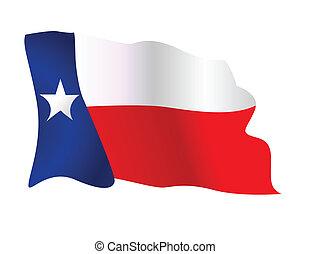 winkende , zustand- markierungsfahne, texas