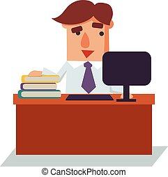 Winking Business Man Cartoon Character Vector Illustration