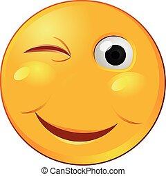 Winking emoji vector icon