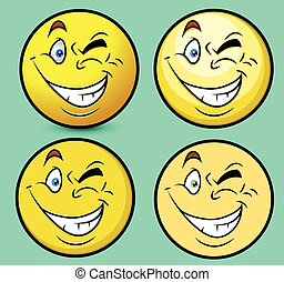 Winking Eye Emoticon Set