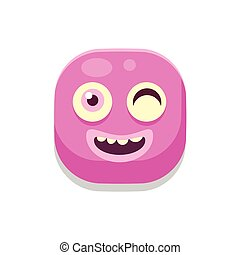 Winking Monster Square Icon