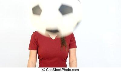 Winking Soccer German Fan Catching Ball - Young Girl Fan...
