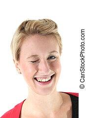 winking woman