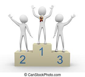winnaar, 3d, best, verkoper