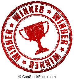 winnaar, postzegel