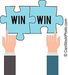 winnen, concept, zakelijk